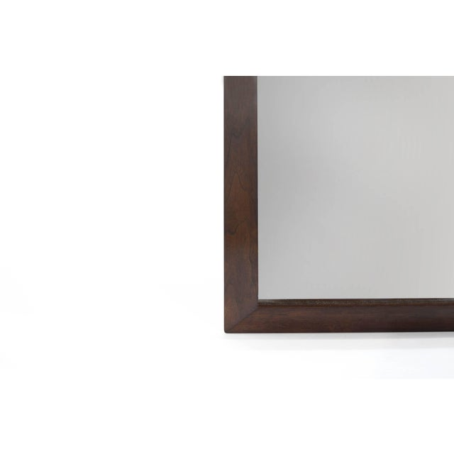 Large-Scale Walnut Mirror by t.h. Robsjohn-Gibbings For Sale In New York - Image 6 of 8