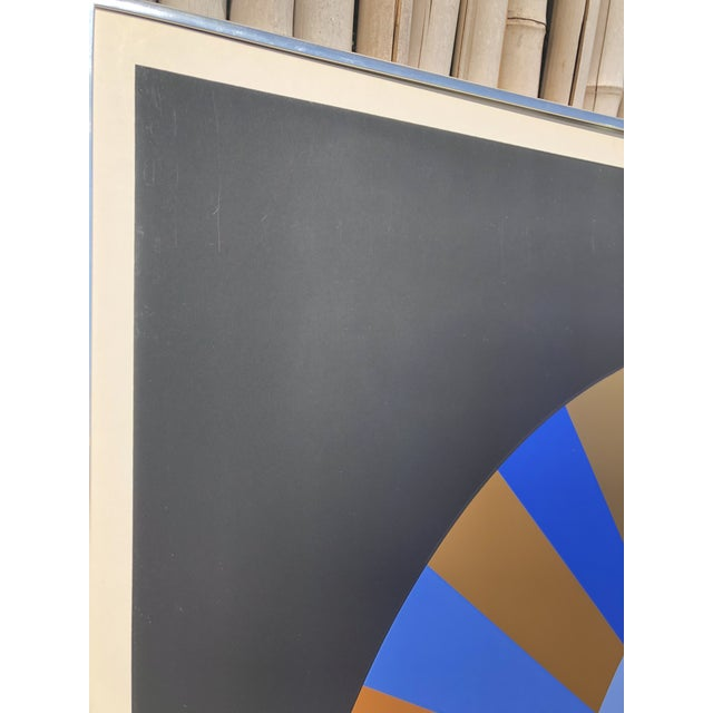 1972 Vintage Victor Vasarely Limited Edition Official Munich Olympic Serigraph Poster For Sale In West Palm - Image 6 of 9