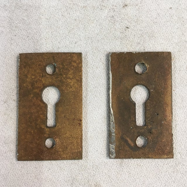 Brass Antique Late 19th Century Eastlake Victorian Yale & Towne Mortise Lock Box With Porcelain Door Knobs For Sale - Image 8 of 13