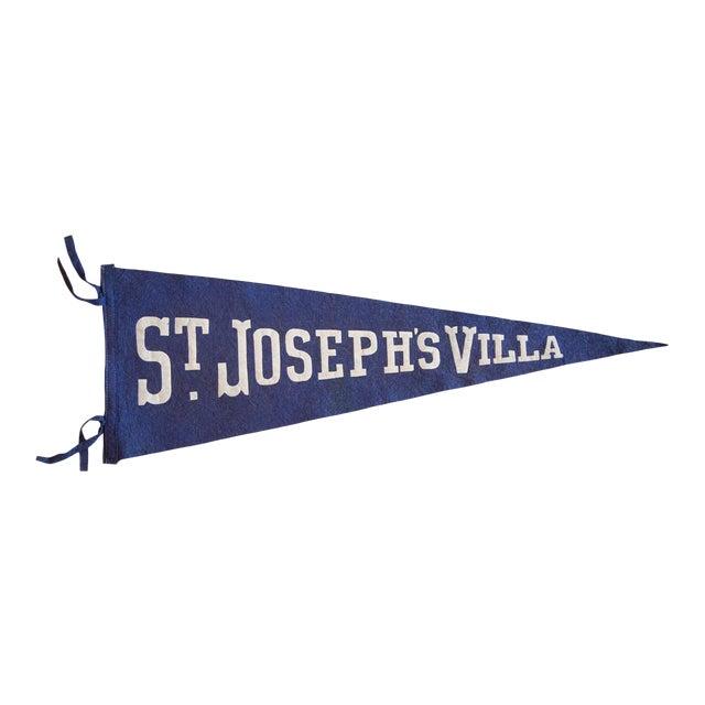 1940s St. Joseph's Villa Felt Flag For Sale