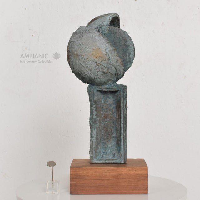 Myrna M Nobile Bronze Abstract Sculpture #6, Mid Century Period For Sale In San Diego - Image 6 of 10