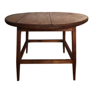 Mid Century Round Wood Table For Sale