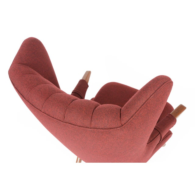 Svend Skipper Model 91 Burgundy Lounge Chair For Sale - Image 7 of 10