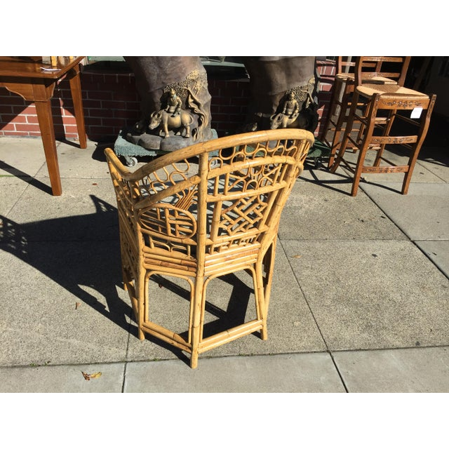 4 Chinese Chippendale Bamboo Chairs and Small Table For Sale In San Francisco - Image 6 of 8