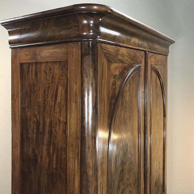 19th Century French Louis Philippe Period Burl Mahogany Armoire For Sale In Dallas - Image 6 of 12