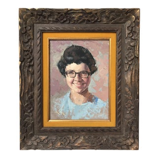 Portrait of Girl With Glasses For Sale