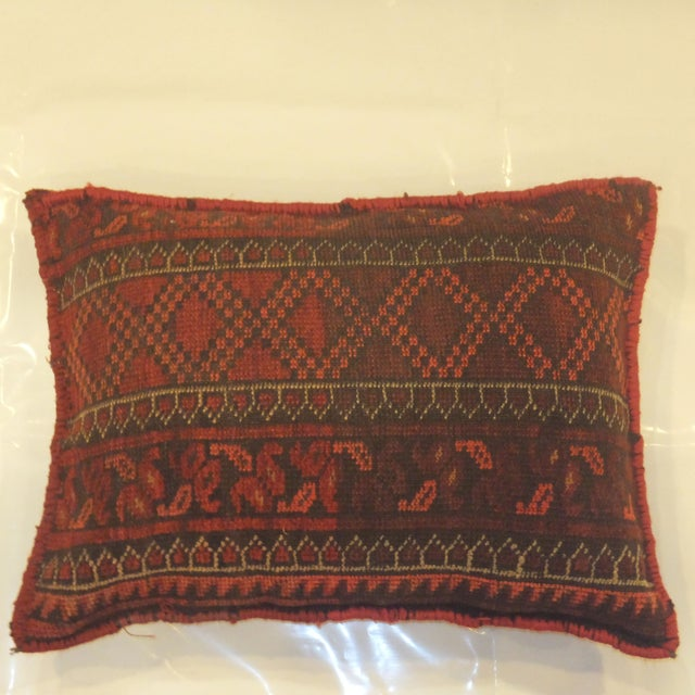 Afghan Rug Fragment Pillow - Image 2 of 3
