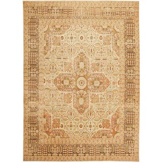 Antique Persian Tabriz Carpet - 9′ × 12′5″ For Sale