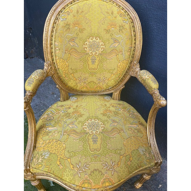Late 19th Century 19th C. English Giltwood Armchairs - a Pair For Sale - Image 5 of 13