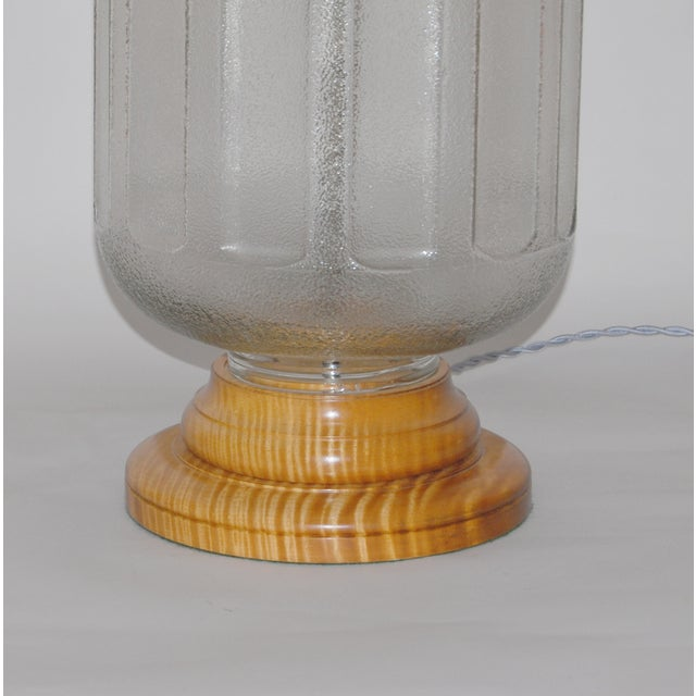 19th C Water Bottle Lamp W/ Hand Painted Lampshade - Image 5 of 6