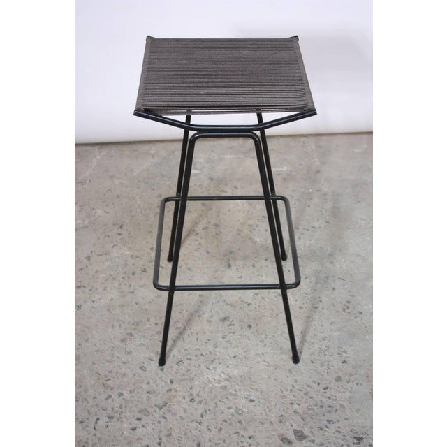 Set of Four Allan Gould Iron and Rope Stools - Image 6 of 10