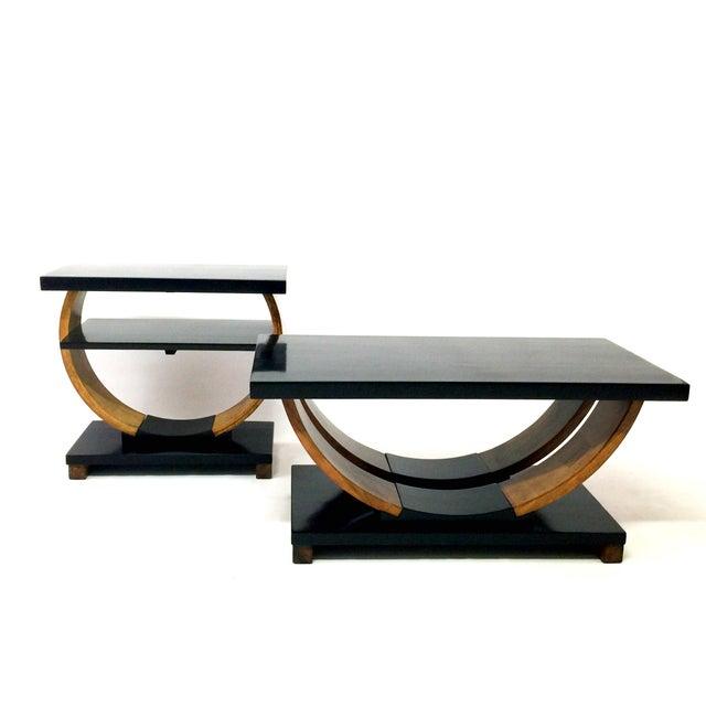 Brown Saltman Deco Coffee Table - Image 3 of 3