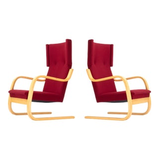 Vintage Mid-Century Model 36/401 Cantilever Lounge Chairs by Alvar Aalto - a Pair For Sale