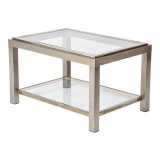Mid-Century Modern Two-Tier Low Table For Sale