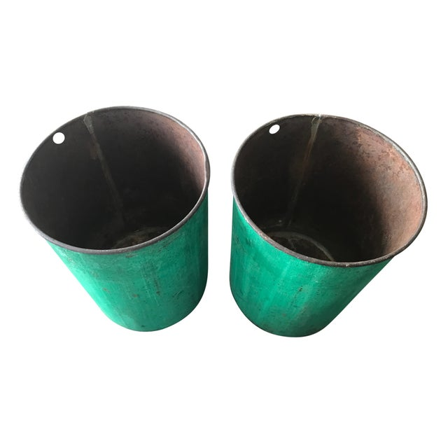 Vintage Sap Buckets - A Pair - Image 2 of 5