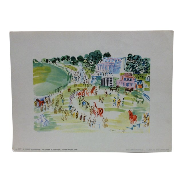 """""""Le Paddock a Longchamp Galerie Petrides"""" Paris French Print by Duffy For Sale"""