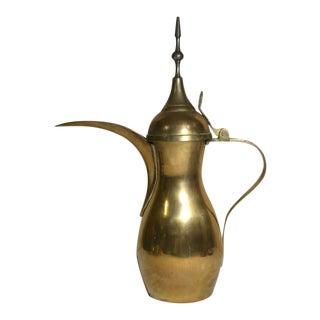 1970s Islamic/Turkish Solid Brass Dallah Coffee/Tea Pot