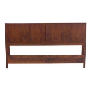 Mid-Century Modern Oiled Walnut Danish Full Size Headboard For Sale