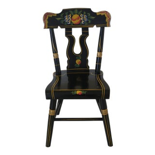 VIntage Early American Paint Decorated Childs Chair For Sale