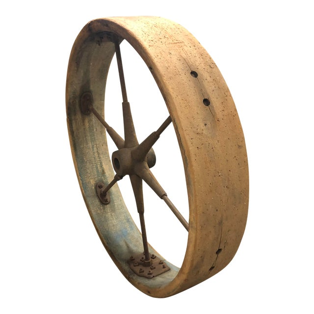 Early 20th Century Old Industrial Wheel For Sale