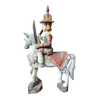 Guardian Nat Figure on Horseback to Accompany Buddha Into the Afterlife For Sale