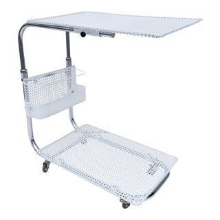 Mathieu Mategot White Bar Cart For Sale