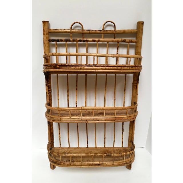 Vintage Boho Bamboo Three Tier Wall Shelf Chairish