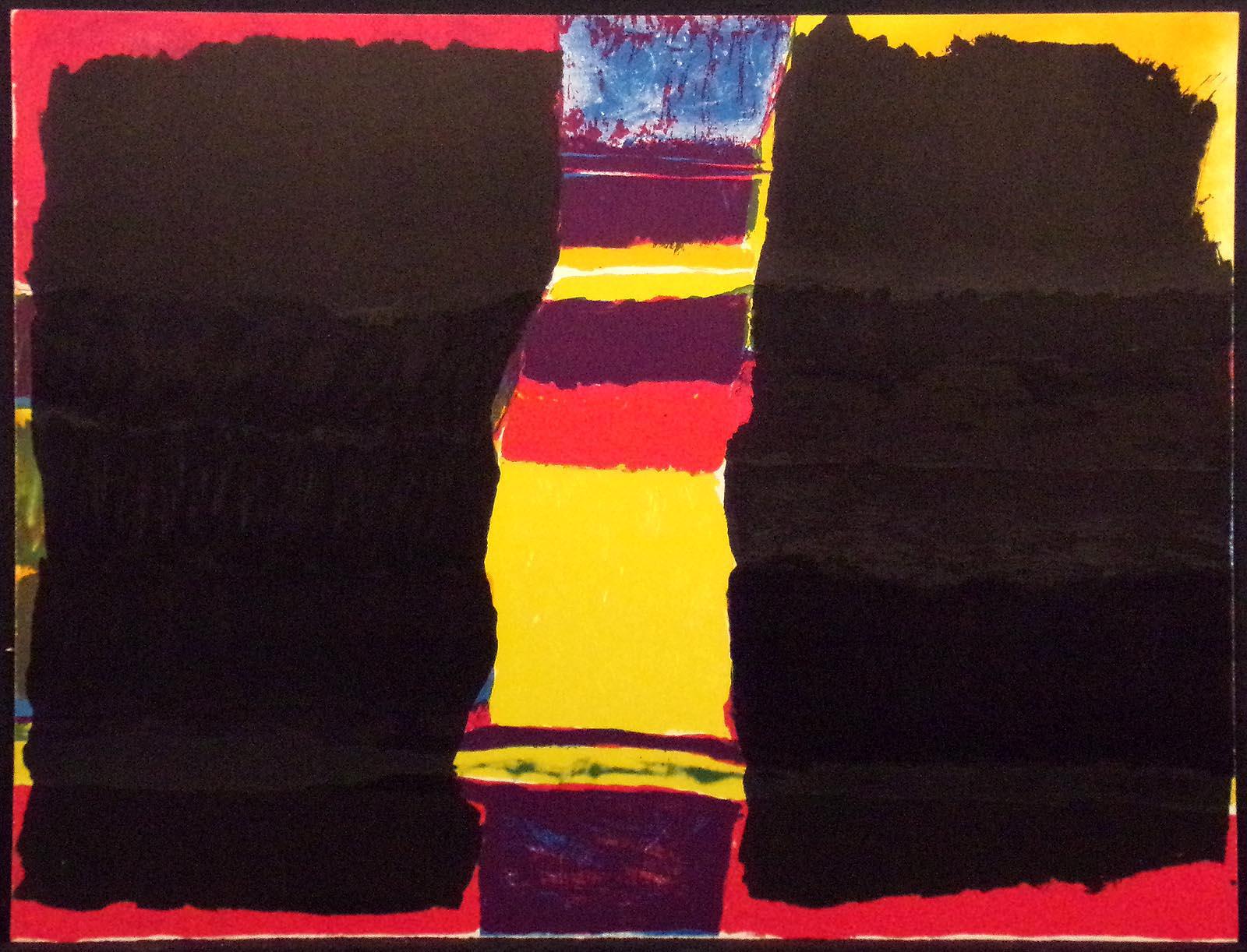 ORIGINAL Multicolor Serigraph SILK SCREEN Unframed Print When Birds Come Back 1973