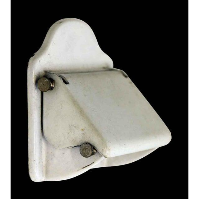 Belgian Vintage White Toilet Paper Holder For Sale - Image 3 of 7