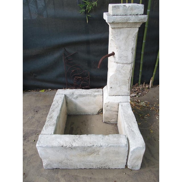 Carved Limestone Corner Fountain from France For Sale - Image 4 of 9