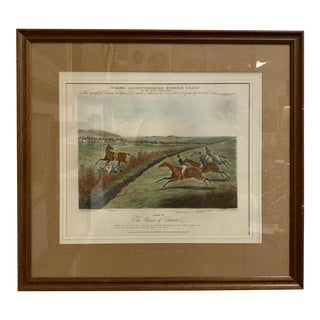 1830s English Engraving of a Hunt Scene, Framed For Sale