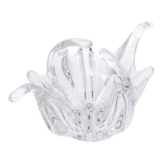 1920s Modern Handkerchief Glass Dish For Sale
