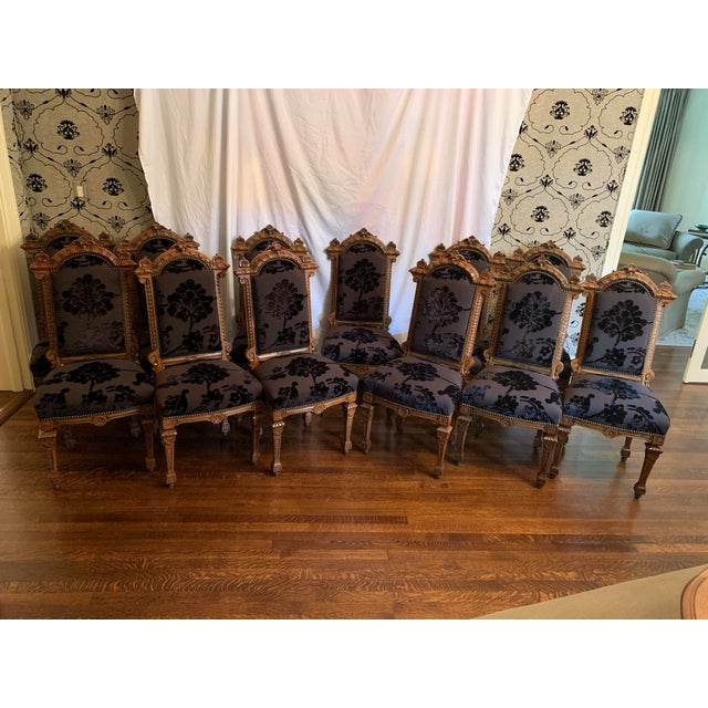 Renaissance Revival Dining Chairs Set of 12 For Sale - Image 13 of 13