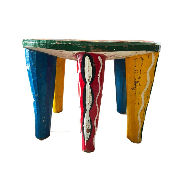 """African Old Nupe Stool Nigeria 12"""" H For Sale In New York - Image 6 of 8"""