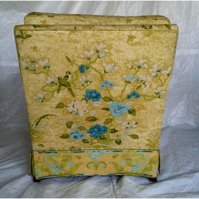 Floral Print Club Chairs by Century - A Pair - Image 5 of 7