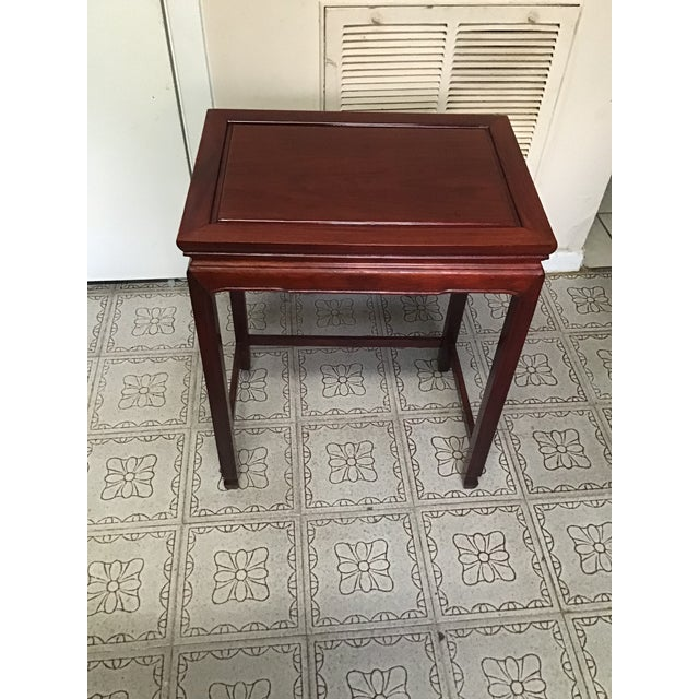 1900s Chinese Mahogany Handmade Side Table For Sale In Houston - Image 6 of 12