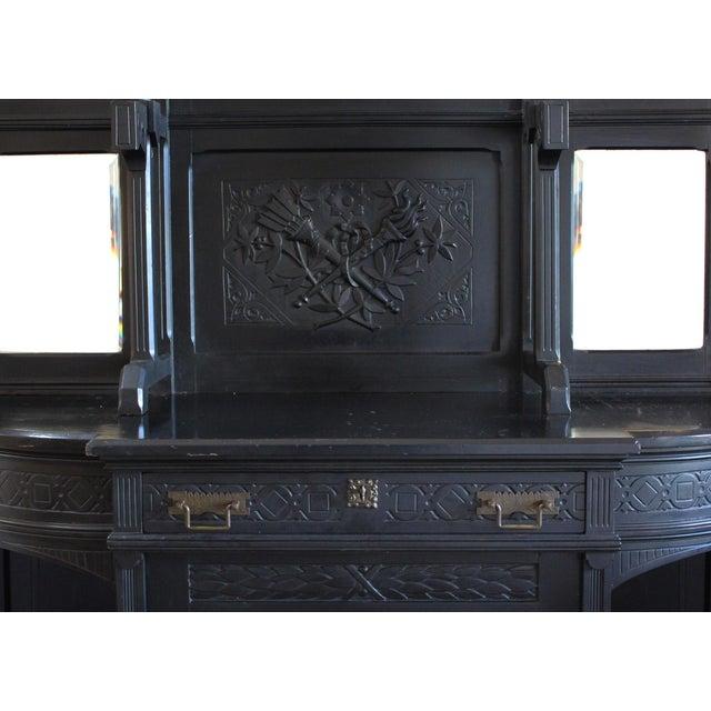 Ebonized Victorian Cabinet - Image 3 of 4