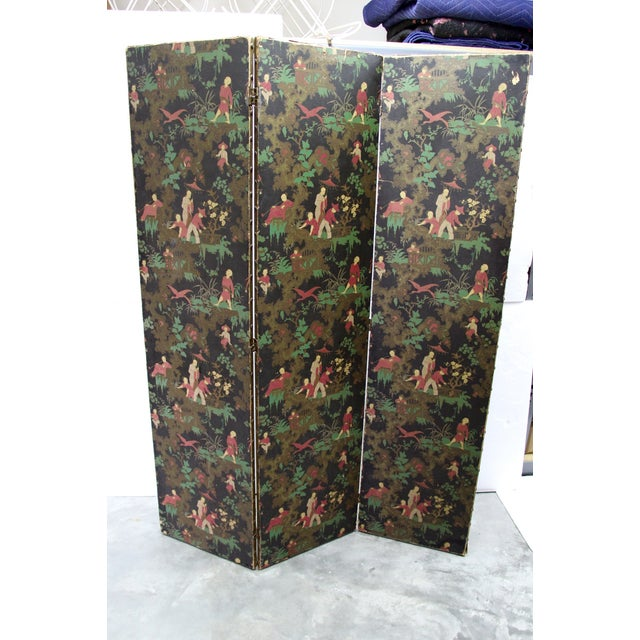 Antique Chinoiserie Folding Floor Screen - Image 3 of 8