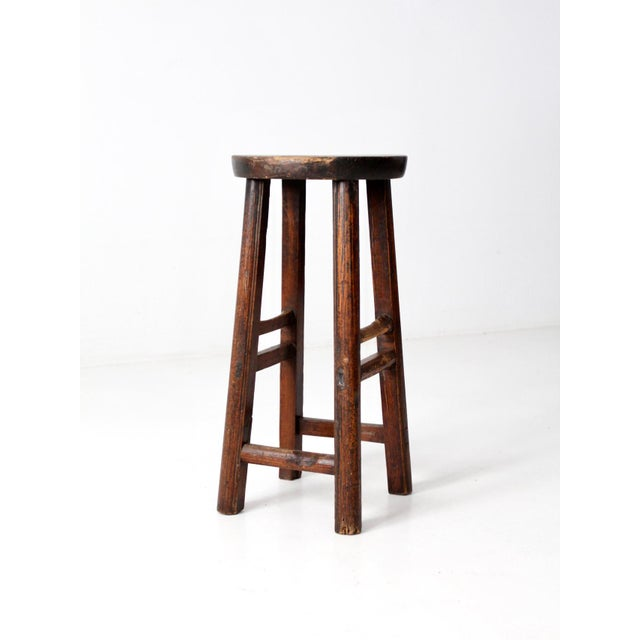 Wood Antique Chinese Stool For Sale - Image 7 of 11