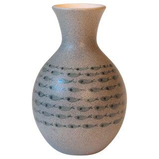 Bitossi Italian Pottery Raymor Fish Vase Vintage Londi Ceramic Original Label For Sale