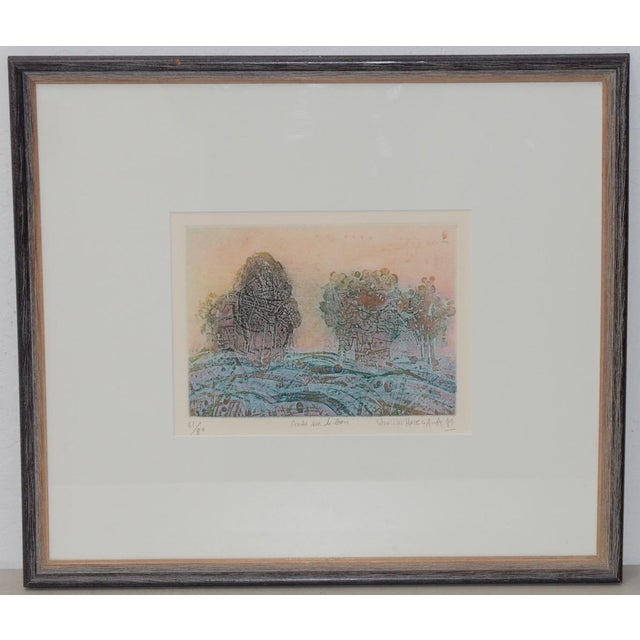 Soichi Hasegawa Limited Edition Etching W/ Aquatint C.1970s For Sale - Image 4 of 4