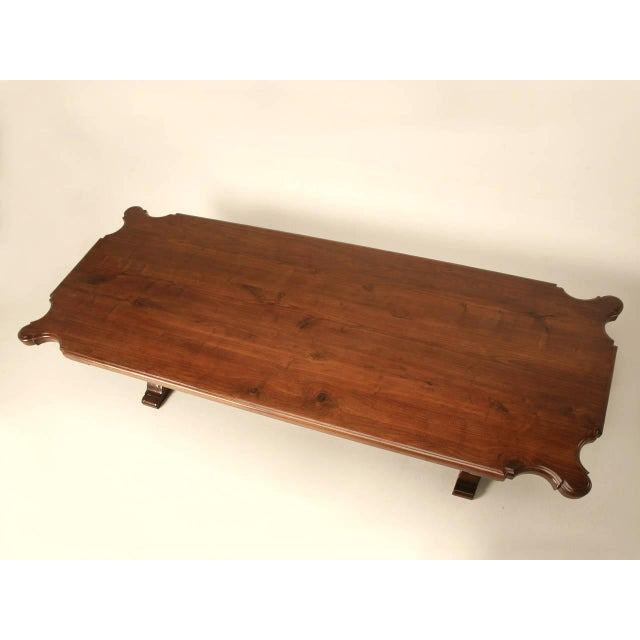 Italian Farm Table Made from Huge Planks of Solid Mahogany For Sale - Image 4 of 10