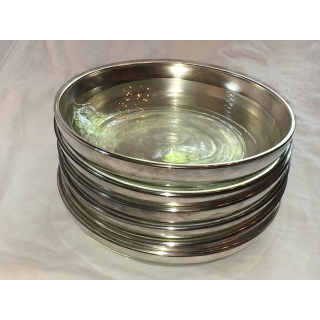 Dorothy Thorpe Silver Rim Plates - Set of 6 - Image 5 of 6