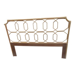 Geometric Rattan Queen Headboard