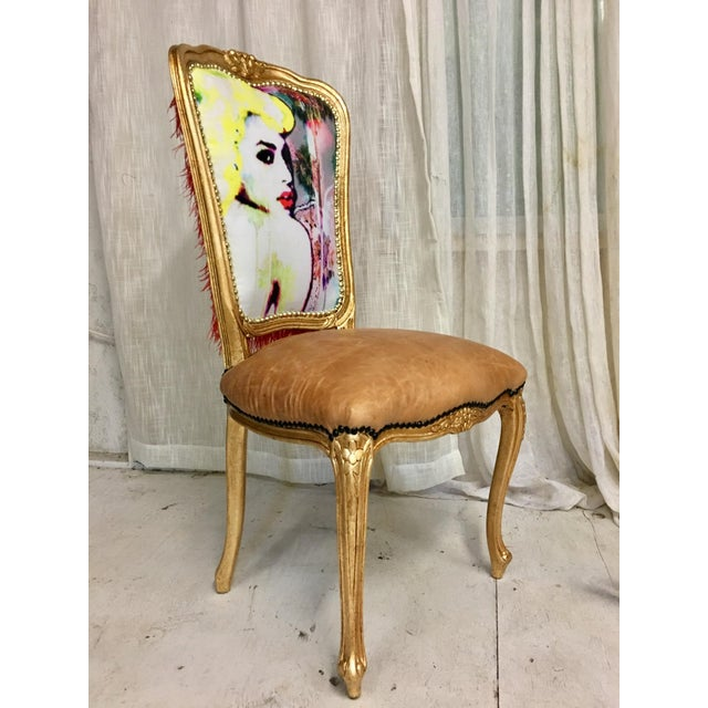 """Limited Edition #1 or 20 """"Golden Goddess"""" Daf House Art Piece Chair - Image 4 of 6"""