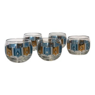 Vintage Culver Roly Poly Glasses - Set of 5
