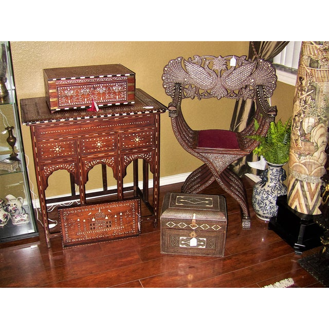 18c Indo Portugese or Persian Vargueno Mini Cabinet For Sale - Image 12 of 13