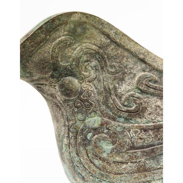 Bronze Lawrence & Scott Large Verdigris Bronze Snail Box For Sale - Image 8 of 10