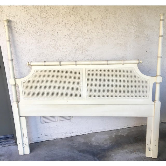 Mid-Century Caned Queen Headboard - Image 6 of 6