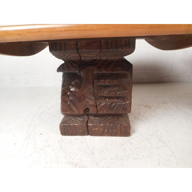 1970s Pair of Midcentury Totem End Tables by Witco For Sale - Image 5 of 13